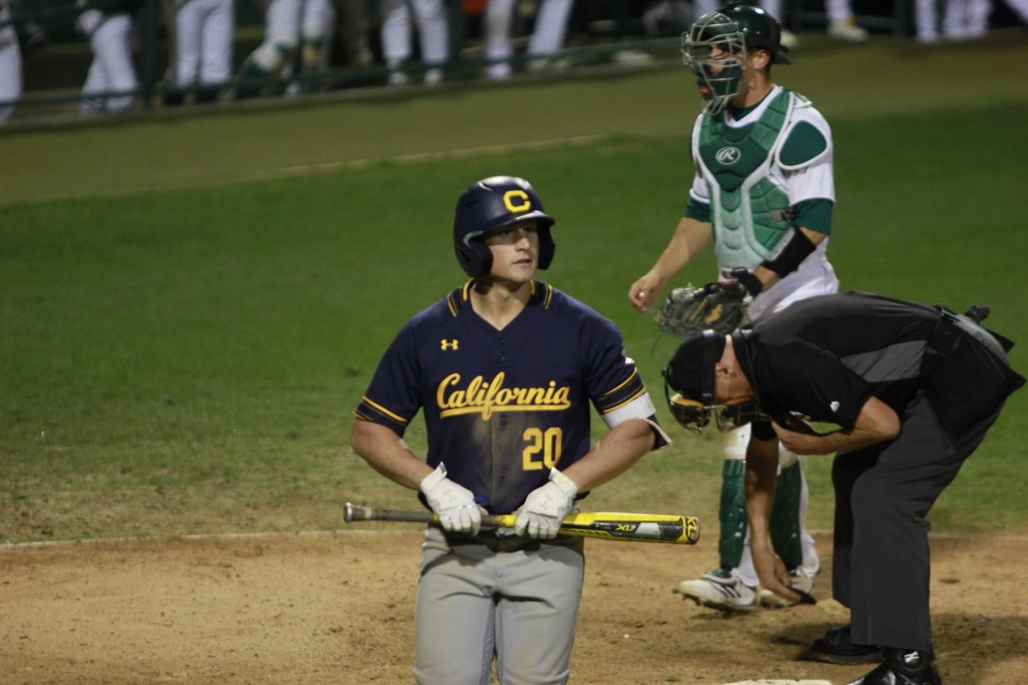 Cal+junior+infielder+Andrew+Vaughn+walks+away+from+home+plate+after+striking+out+in+a+6-0+loss+to+Sac+State+Tuesday+at+John+Smith+Field.+Vaughn%2C+a+highly+touted+MLB+prospect%2C+went+0-4+with+three+strikeouts.