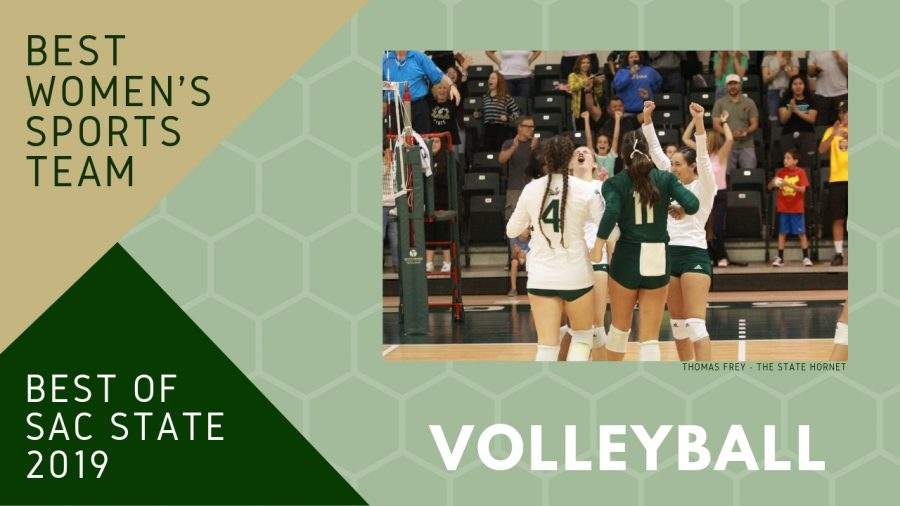 Sac State women's volleyball team voted 2019 'Best Women's Sports Team'