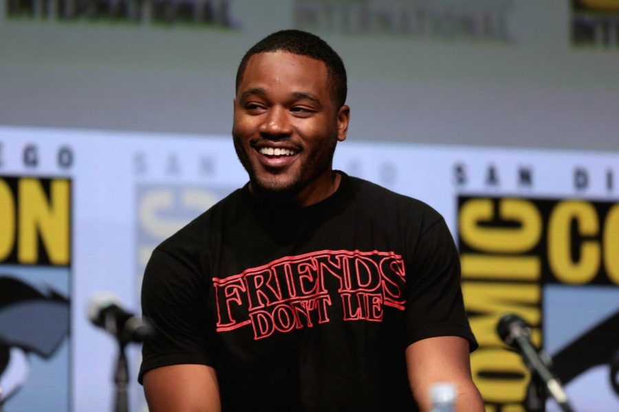 Ryan+Coogler+speaks+at+the+2017+San+Diego+Comic+Con+for+film+%27Black+Panther.%27+Coogler%2C+an+alumnus+of+Sac+State%2C+spoke+to+The+State+Hornet+about+his+plans+to+attend+film+school+at+the+University+of+Southern+California+in+2007.