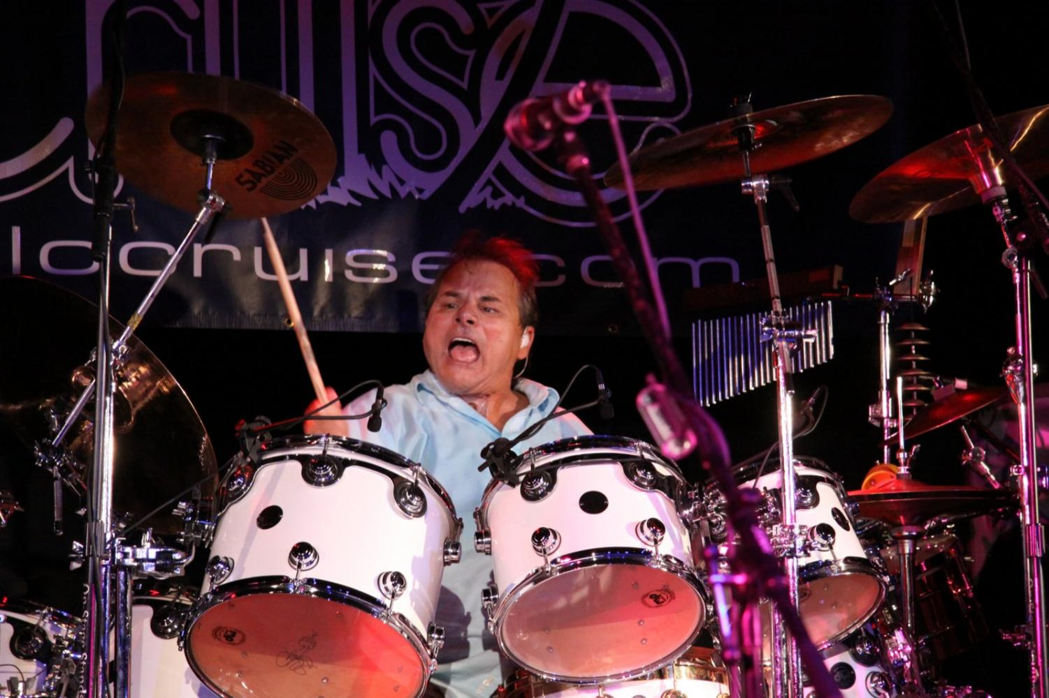 Steve Price, Pablo Cruise's drummer rocks out during a performance on July 10, 2009. Pablo Cruise is one of headliner's for Hornet Athletic's music festival Hornet Fest.