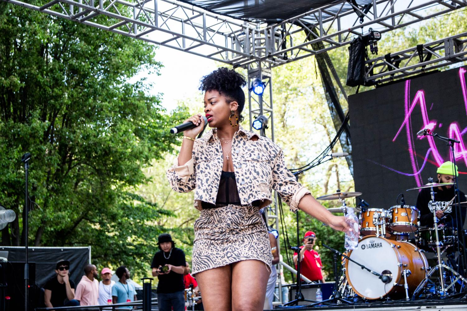 Ari Lennox of Dreamville Records performs on Blume Stage at Sol Blume on April 27 at the Cesar Chavez Plaza. Lennox sang her popular song 'Shea Butter Baby.'