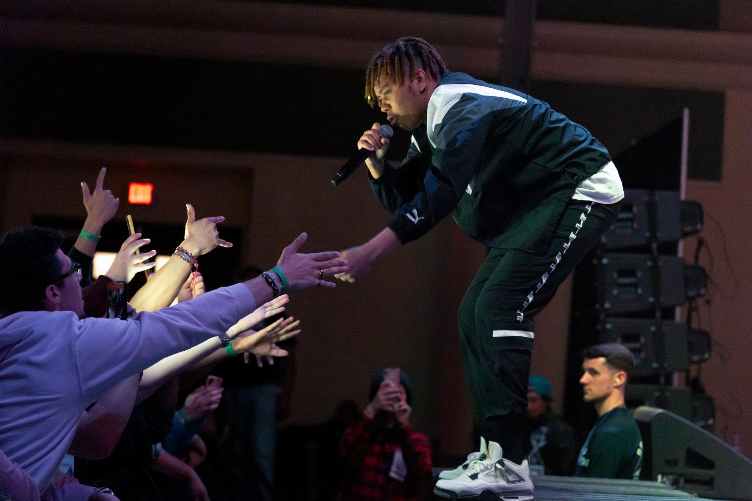 YBN+Cordae+ended+UNIQUE%27s+40th+anniversary+celebration+by+performing+an+unreleased+song+from+his+upcoming+music+project+in+the+University+Union+Ballroom+Thursday.