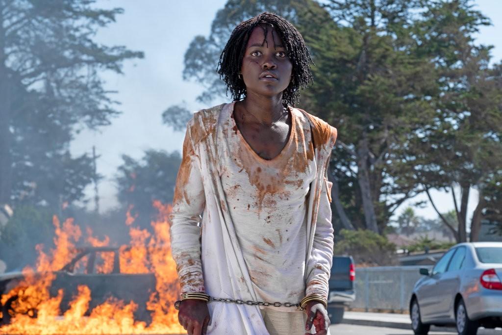 Lupita Nyong'o playing Adelaide Wilson in Jordan Peele's recent movie