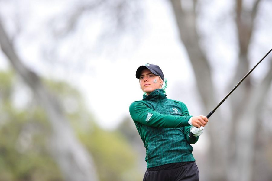 Sacramento State's Sofie Babic competes in the Sacramento State Invitational on Monday, March 19, 2018. Babic spoke to The State Hornet about the Women's Golf Team's Big Sky Conference victory.
