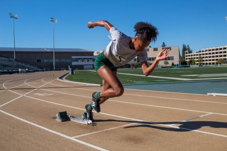 Former track athlete hopes to go from triple jump to triple platinum