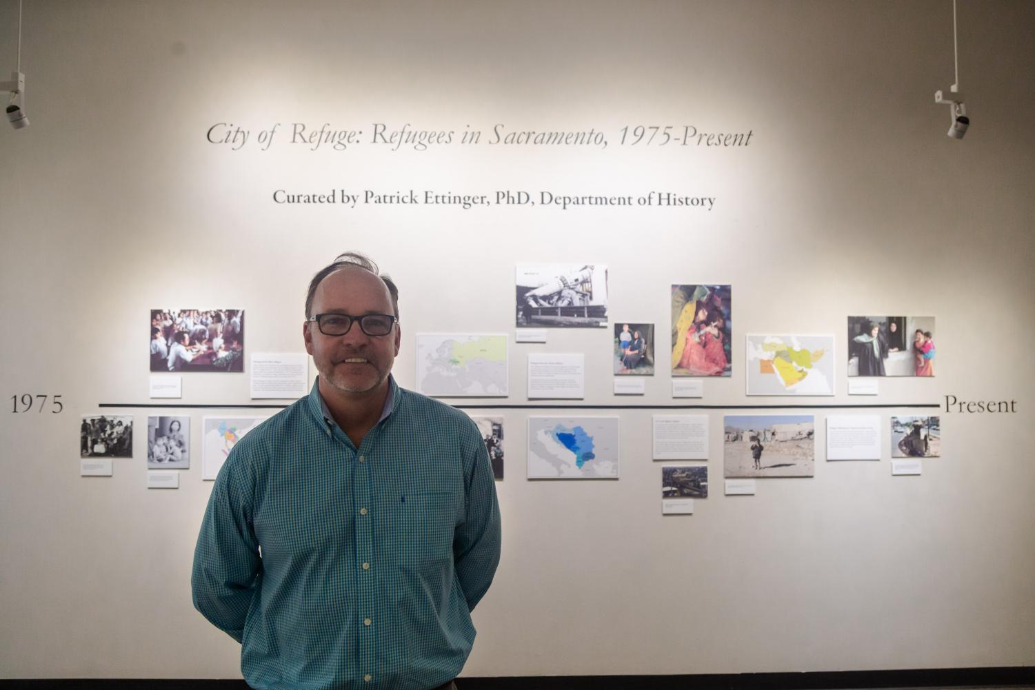 Patrick Ettinger, professor and director of the the public history program at Sac State, is the curator for the refugee gallery that will be on display in Sac State's library exhibit from April 9 - 26.