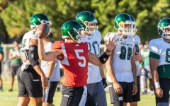 Sac State junior quarterback Kevin Thomson throws a pass during training camp on Tuesday, August 12 at the practice field. Thomson, who was a senior in 2018, was granted two additional years of collegiate eligibility by the NCAA during the offseason.