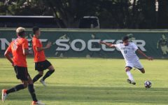 Sac State sophomore defender Alejandro Alcantara prepares to kick the ball against Pacific on Sunday, Sept. 22 at Hornet Field. The Hornets and Tigers played a 1-1 draw.