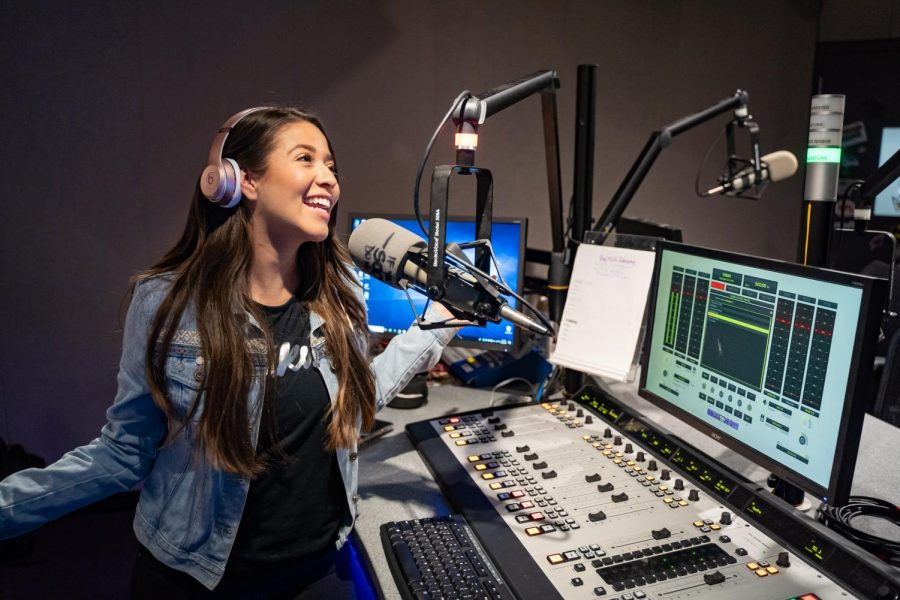Bianca Ventura goes on air from the KSFM studio on Friday, Sept. 20. She is the on-air host from 10 a.m. to 3 p.m. during the week.