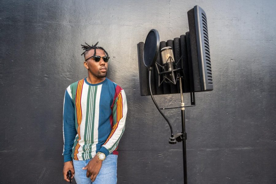 Matthew Osivwemu, who goes by Oke Junior, was photographed on Thursday, Sept. 5, at Sac State. Osivwemu is mentored by rapper and record producer Too Short, and has worked with artists such as Sage the Gemini, Nef the Pharaoh, Iamsu! and 2 Chainz.