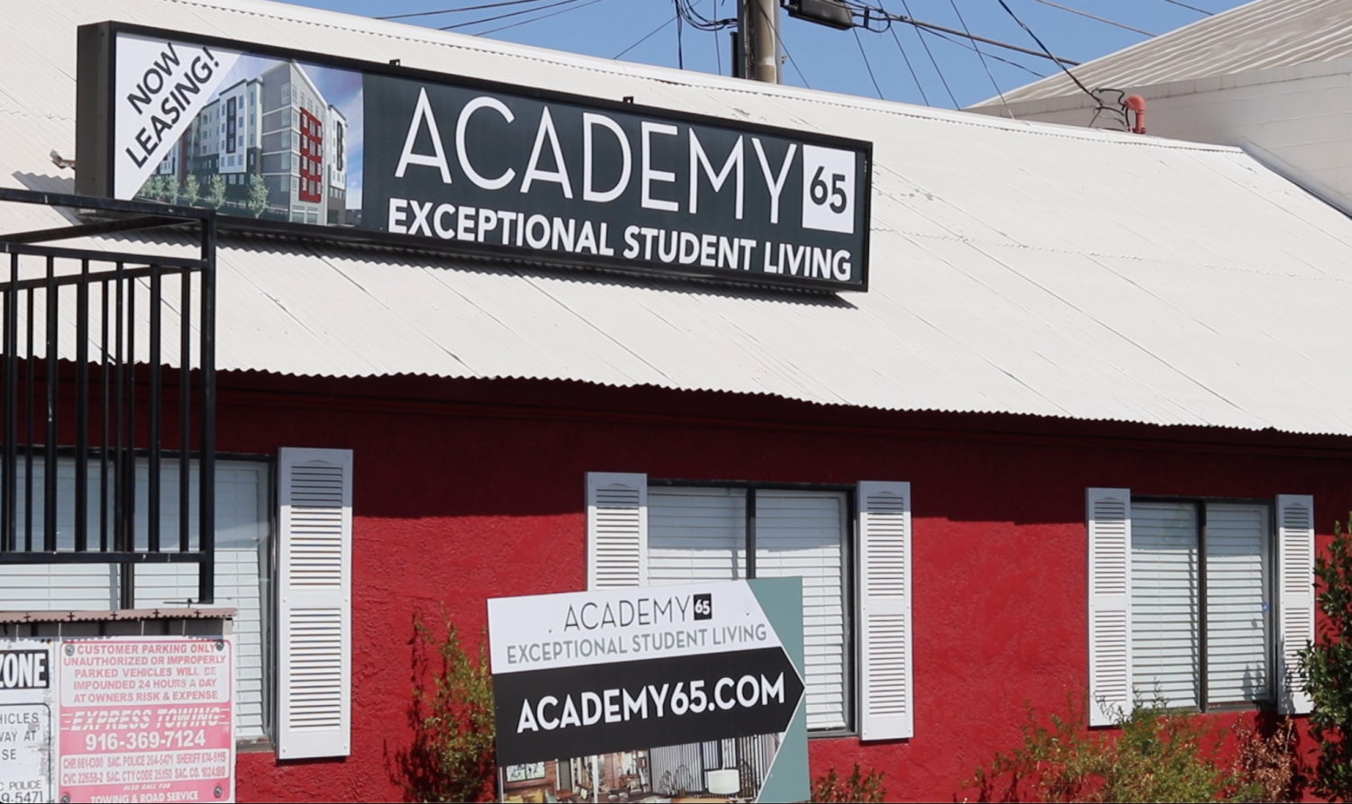 Academy65 leasing office located on 65th St. Move-in started at 2 p.m. on Tuesday, Sept. 10.