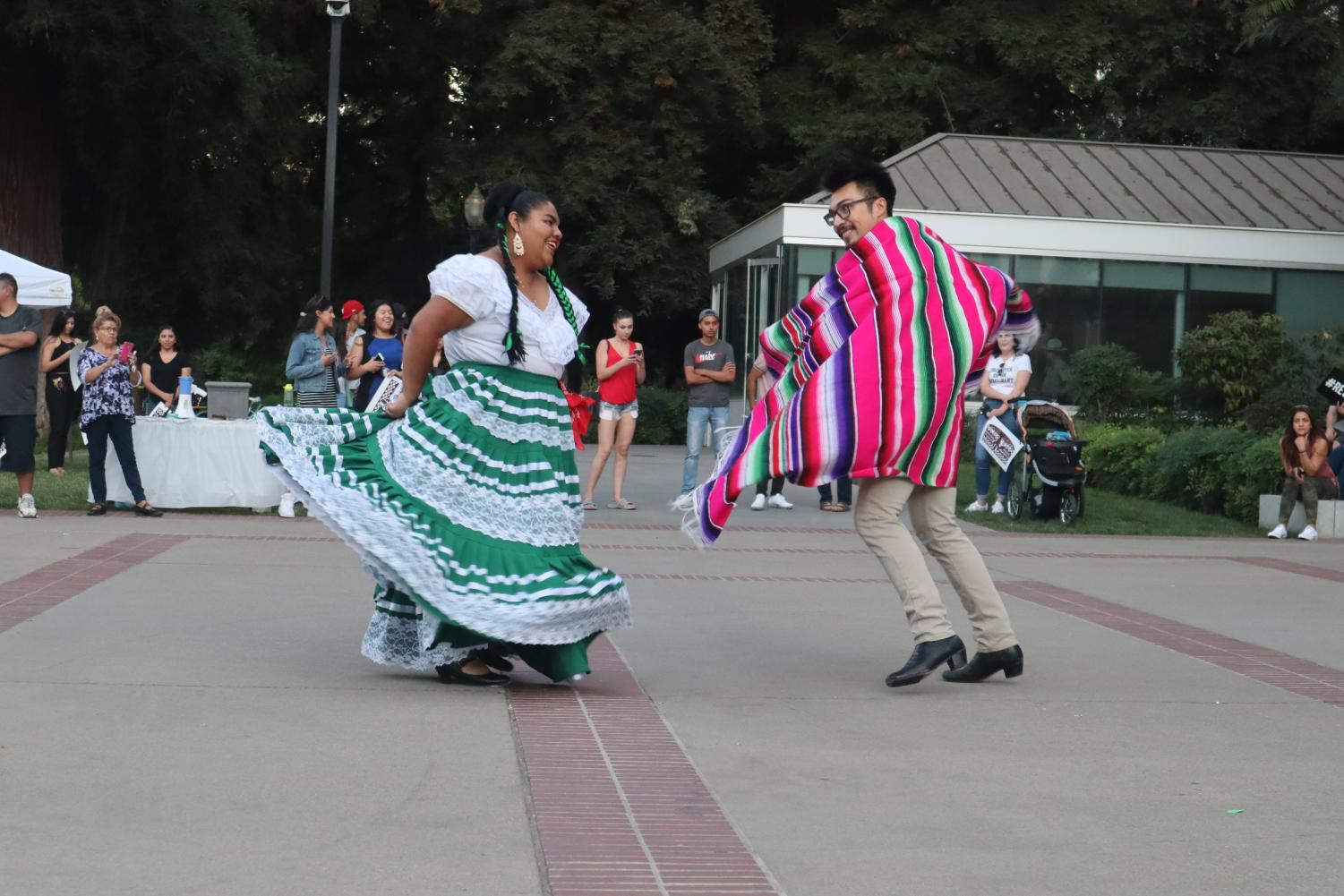 President+of+Sac+State%27s+Baile+Folklorico+Roxana+Javier+dances+with+member+Mario+Mendez+Lopez+at+the+California+State+Capitol+on+Tuesday%2C+Sept.+3.