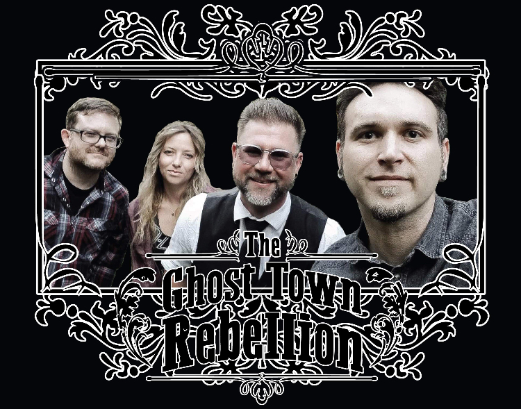 The Ghost Town Rebellion is a Sacramento based band. Band members, from left to right, Rick Click, Chelsea Baker, Shawn Peter and Mike Shively will be performing at Sacramento State for UNIQUE programs Nooner.