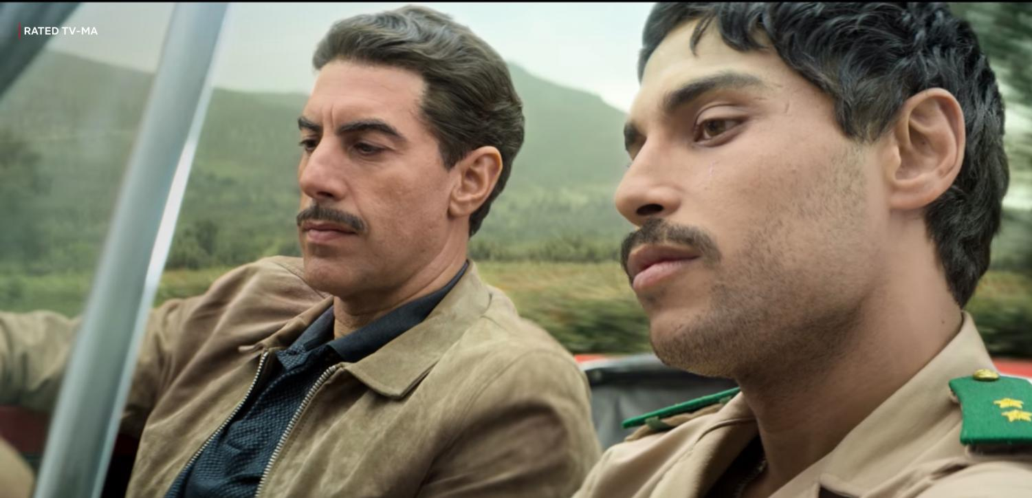 Sacha Baron Cohen and Nassim Si Ahmed in the Netflix Original Series 'The Spy,