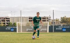 Sac State sophomore forward Benji Kikanovic dribbles the ball Saturday, Oct. 19 at Hornet Field. Kikanovic currently has 4 goals and one assist in the 2019 season.