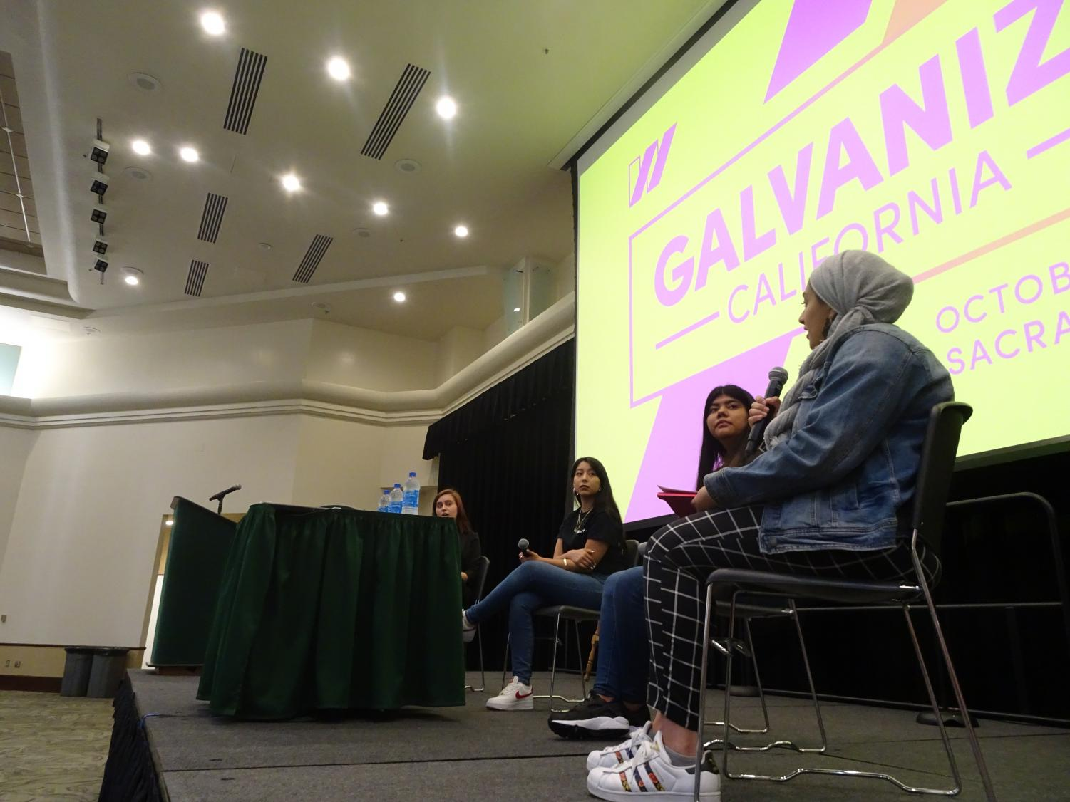 The United State of Women held Galvanize, CA at Sacramento State Saturday. The event is meant to support gender equity through coalition collaborations at the national and local level.