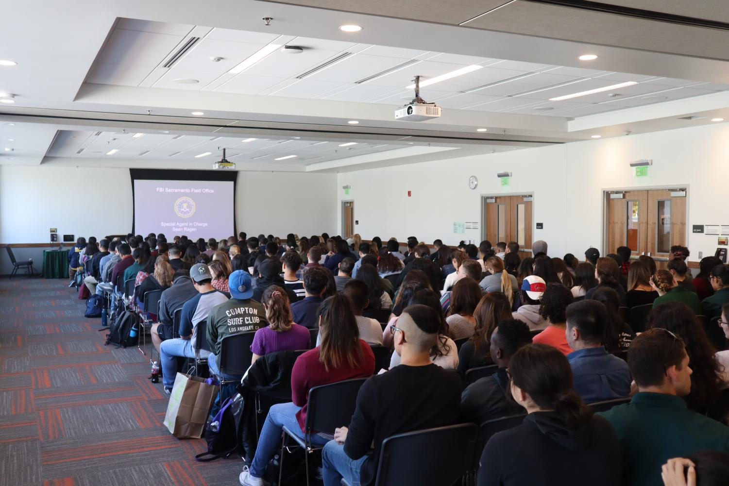 More than 100 students gathered Tuesday in the University Union's Cottonwood Suite for the FBI Collegiate Citizens Academy. The event, designed to give students the information and resources they need to pursue a career with the FBI, will take place every Tuesday during the month of October.