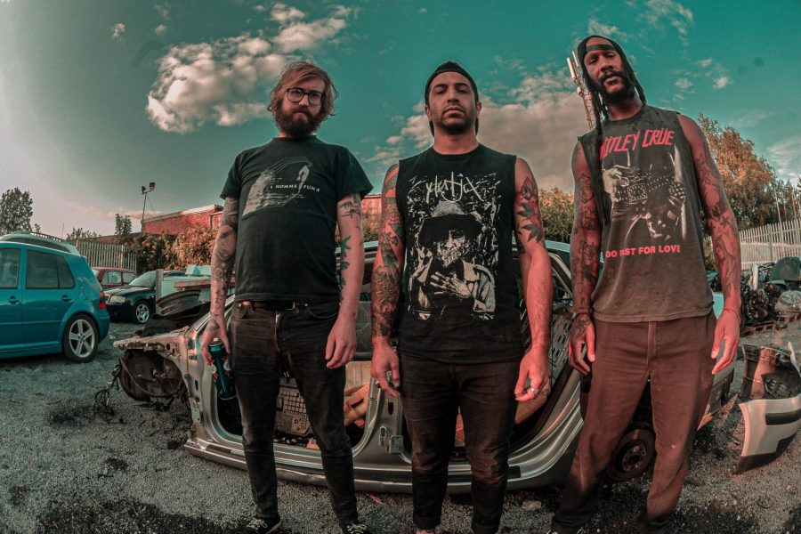 From left to right, Armed for Apocalypse members Charlie Fischer, Nathan Burman, and Nick Harris pose for a promotional photo in Hull, UK. Armed for Apocalypse will be performing in Wednesdays Nooner in the Serna Plaza.