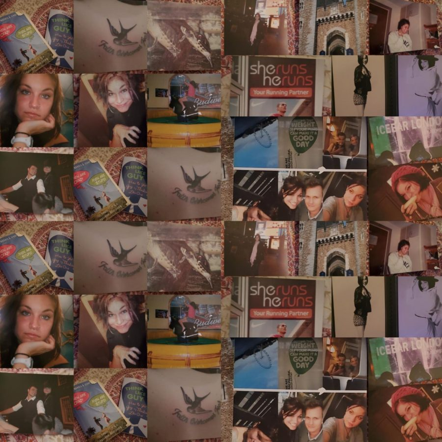 A+collage+of+photos+courtesy+of+Ashton+Byers+when+she+was+first+stationed+in+the+Air+Force+in+England.+The+photos+show+the+ups+and+downs+of+my+life+and+the+choices+I+made+following+a+bad+breakup.+Photos+courtesy+of+Ashton+Byers
