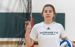 Sac State sophomore setter Ashtin Olin poses for a photo Wednesday, Nov. 20 at Yosemite Hall. Olin has been named second team all-Big Sky Conference in consecutive seasons (2018-19).