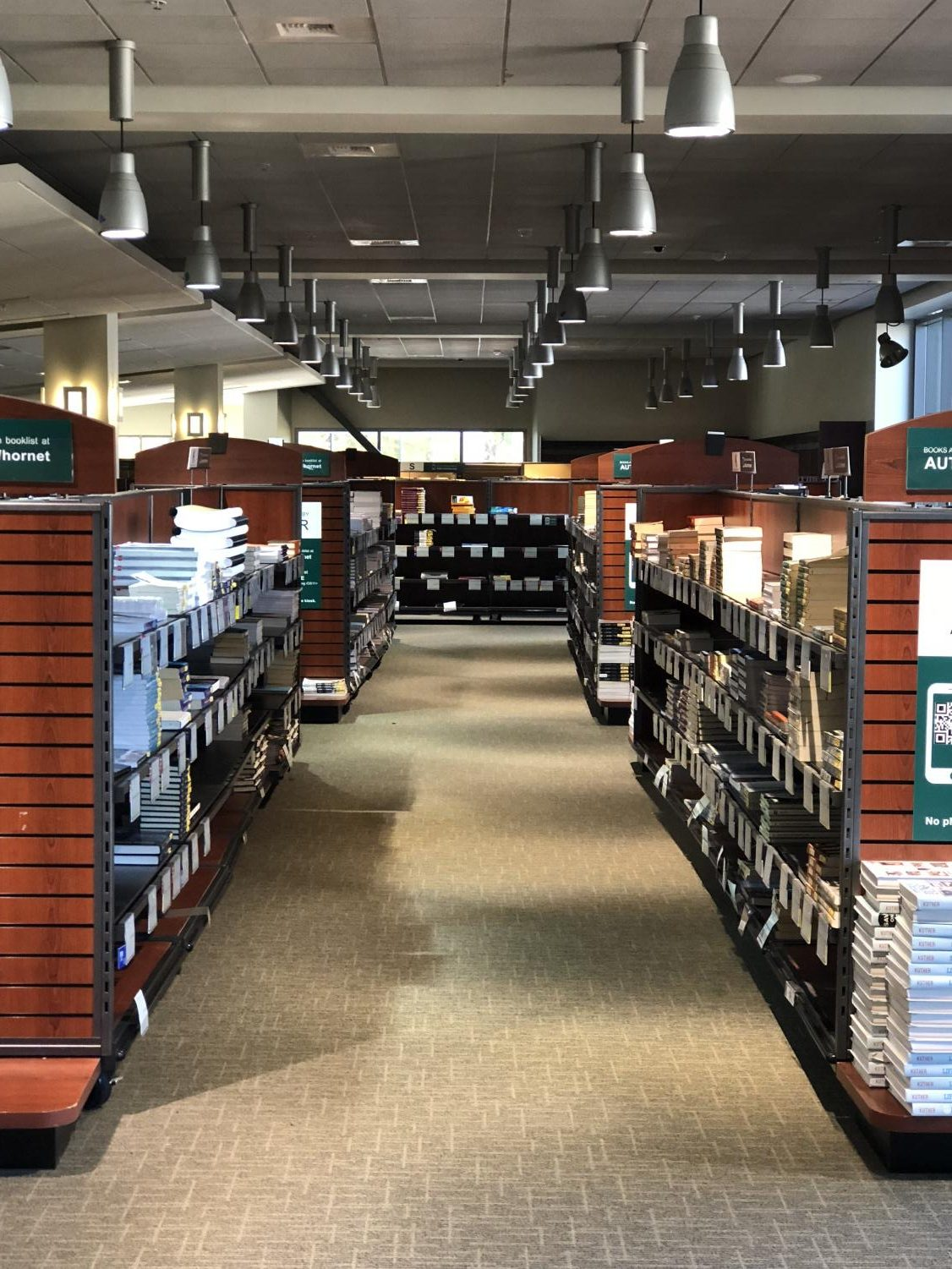 The inside of the Hornet Bookstore. Sac State is considering implementing Follet Access, a program that would give students access to course materials on the first day of class through tuition or course charges.