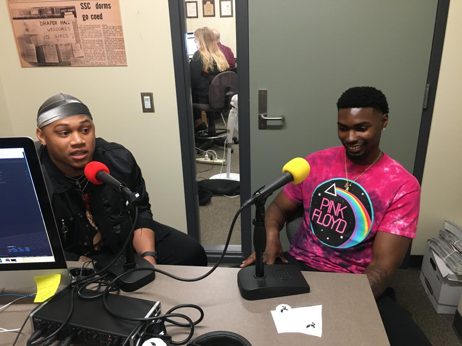 Sac State alumni and former football players Dre Terrell and Andre Lindsey in the studio for the State Hornet Sports Podcast. Lindsey and Terrell reflected on their favorite memories at Sac State and their former team's recent rise in the Big Sky Conference.