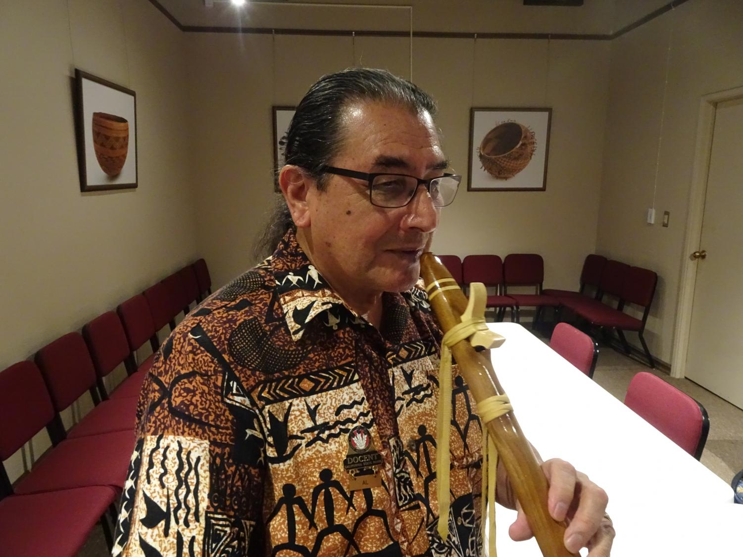 Al Striplen is a retired professor and counselor at Sacramento State as well as a teacher of Native American flute. He said that he separates his Indigenous heritage from Thanksgiving, in order to participate in the holiday.