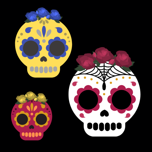 Día de los Muertos, or Day of the Dead, is a two-day celebration in Latin American countries, primarily Mexico, that honors the souls of those who have passed on from this life to the other.