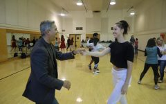 Sac State gymnastics coach leads students in ballroom dance class