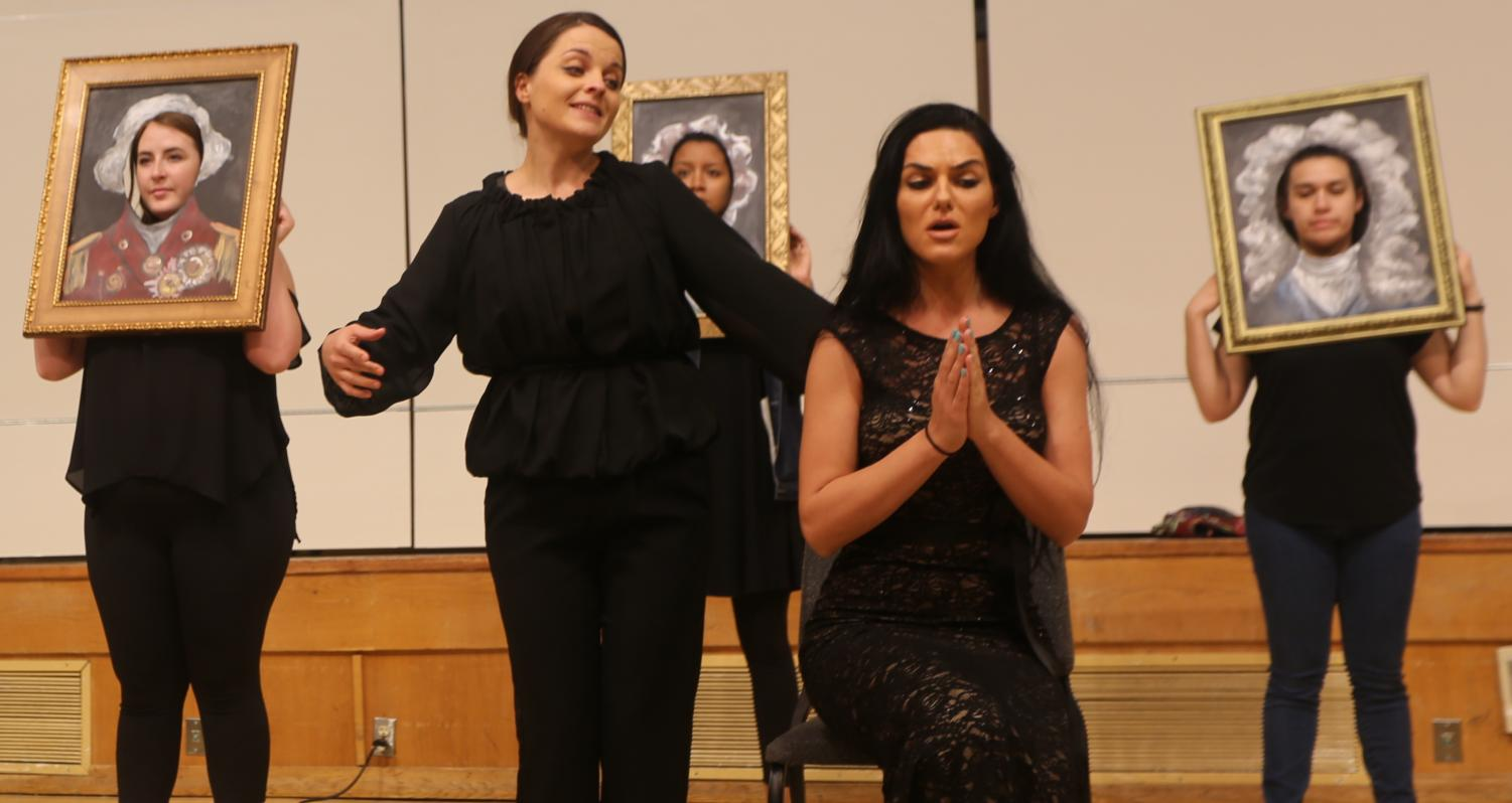 Opera Theatre students Tatiana Grabciuc and Galina Orlova perform from