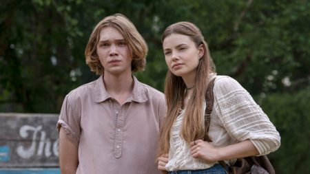 Charlie Plummer as Miles Halter and Kristine Forseth as Alaska Young in Hulu