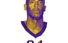 An illustration of Kobe Bryant.   Bryant and his 13-year-old daughter Gianna died in a helicopter crash Sunday morning.