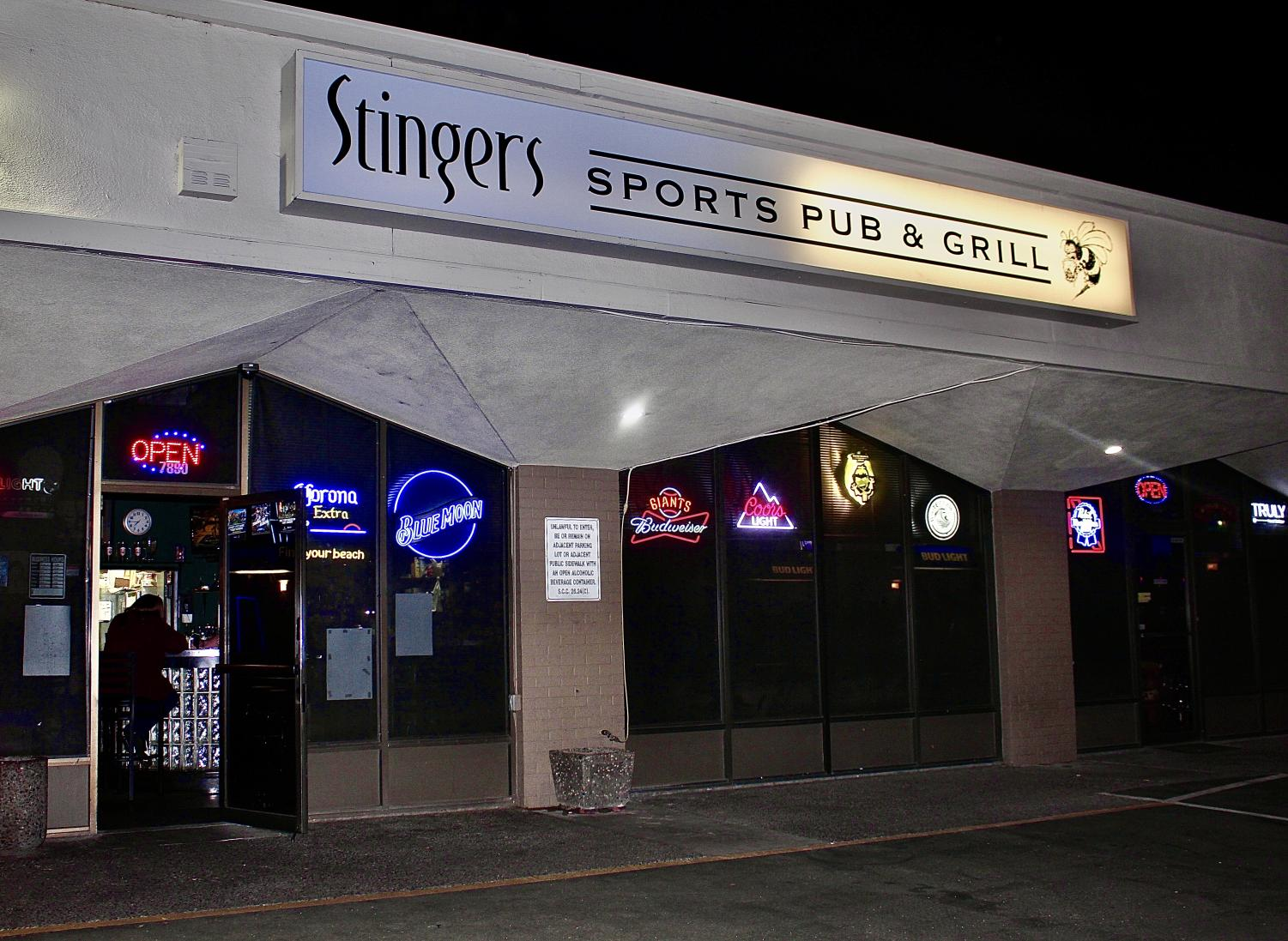One person sustained an injury after shots were fired at Stingers Sports Pub Sunday night. The sports bar is popular among Sac State students and is less than a mile away from campus. Photo by Kendra Rivera-Molina.