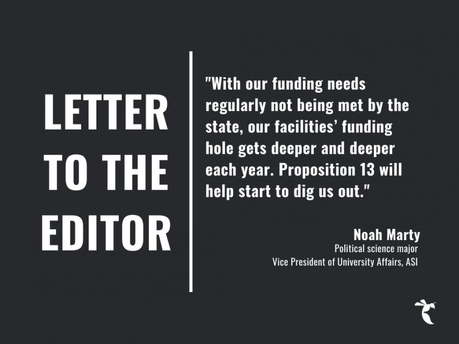 LETTER TO THE EDITOR: Vote yes on Prop 13 and make Sac State safer
