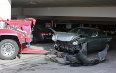 Student crashes into barrier of Parking Structure I