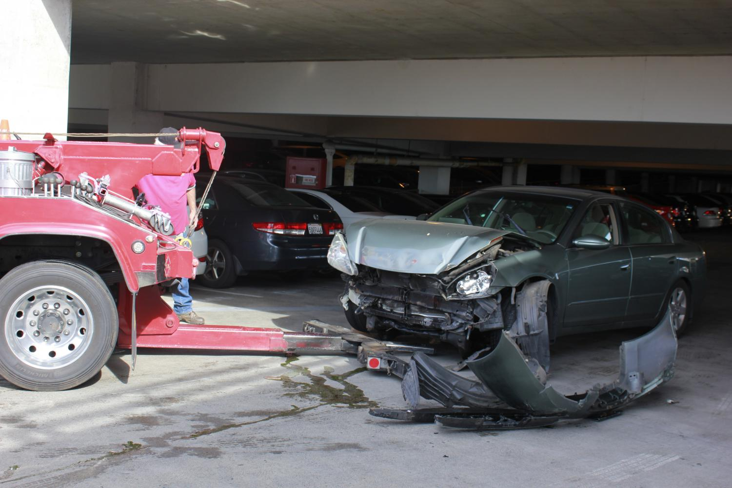 On February 4, 2020 a collision into a railing occurred on the 4th floor of Parking Structure 1, located between Sacramento State's baseball and soccer field. Police said the student involved was evaluated for minor injuries and the vehicle had to be towed away.