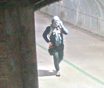 A man suspected of displaying a hunting knife and warning two students at Sac State to watch their surroundings. The Sacramento Police Department released this photo Thursday in search of the suspect.