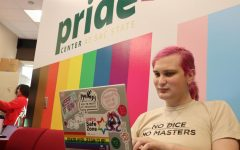 Rosie Quinzel, a computer science major, poses in the Pride Center at the University Union at Sac State on Tuesday, Feb. 11. Quinzel is transgender and said she agrees students should be allowed to use their preferred names on diplomas.