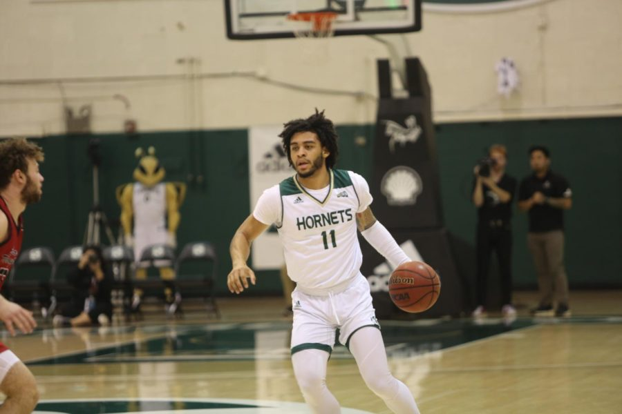 Sac+State+sophomore+guard+Brandon+Davis+drives+down+the+court+against+Eastern+Washington+at+the+Nest+on+Saturday%2C+Feb.+1.+Davis+finished+with+five+points%2C+three+rebounds%2C+three+assists+and+two+steals.