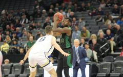 Sac State senior center Joshua Patton looks to make a pass against UC Davis senior center Matt Neufeld on Wednesday, Nov. 20, 2019 at Golden 1 Center. The NCAA formally announced Friday that it will begin discussions regarding eligibility relief for student-athletes due to seasons being suspended amid the coronavirus outbreak.
