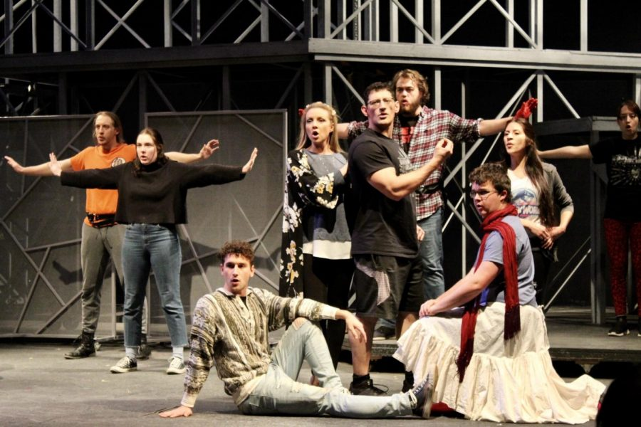 Cast+members+rehearse+the+opening+scene+for+Romeo+and+Juliet+on+March+9%2C2020.