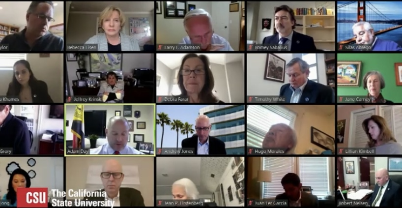The+CSU+Board+of+Trustees+held+an+open+meeting+through+a+livestream+Tuesday+discussing+the+acquisition+of+property+for+an+off-campus+academic+resource+center+to+be+established+in+Placer+County.+The+board+voted+unanimously+to+establish+the+Sacramento+State+Placer+Center.