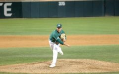 Sac State sophomore Evan Gibbons throws a pitch against Pacific on March 3, 2020 at John Smith Field. The Hornets lost at San Francisco on on Tuesday, 12-4.