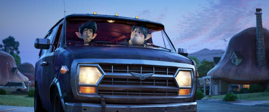 Ian Lightfoot (Tom Holland) and Barley Lightfoot (Chris Pratt) contemplate the quest ahead of them in Pixar's latest film, 'Onward.' Opinion writer Jordan Parker writes about where the new Pixar film falls short. Photo courtesy of Disney/Pixar