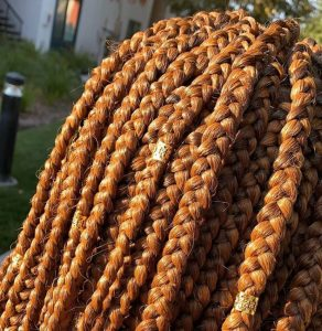 A detailed look at braid work done by fourth year student Ivie Eboigbodin. Photo courtesy of Ivie Eboigbodin.