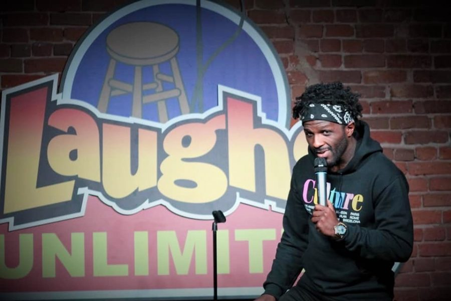 Lance Woods performs at the Laughs Unlimited Comedy Club and Lounge in Sacramento, CA on March 12, 2020.