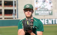 Sac State senior pitcher Parker Brahms poses for a photo at practice on Thursday, Feb. 6 at John Smith Field. Brahms was drafted in the 27th round of the 2019 MLB Draft by the Los Angeles Dodgers but chose to return to Sac State.
