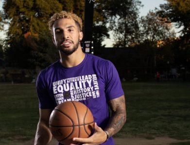 Cody Demps poses for a photo on Wednesday, Oct. 2, 2019 at Roosevelt Park in Sacramento. The Stockton Kings guard had his season canceled due to COVID-19.