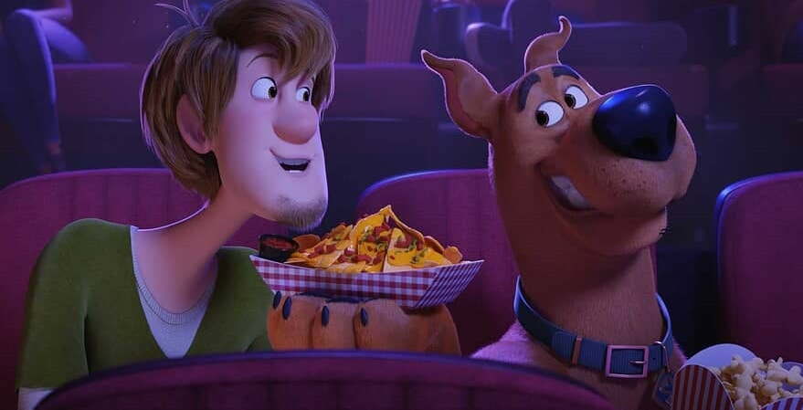 Shaggy+Rogers+%28Will+Forte%29+and+Scooby-Doo+%28Frank+Welker%29+share+nachos+at+a+movie+theater+during+the+latest+addition+to+the+Scooby-Doo+franchise%2C+SCOOB%21+%28Photo+courtesy+of+Warner+Bros.+Entertainment+Inc.%29+