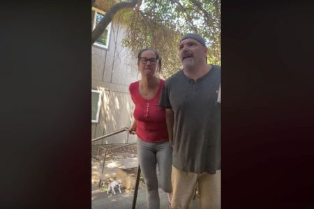 A Facebook video posted Friday, May 1 went viral, showing a Sac State professor and a woman arguing with their neighbors. The man in the video was identified as Tim Ford by university administrators.
